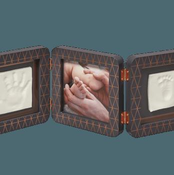 Тройная рамка, Baby Art медно/темно серый
