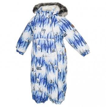 Комбинезон зимний для мальчика Huppa, REGGIE 1, голубой узор