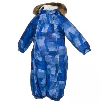 Комбинезон зимний для мальчика Huppa, REGGIE 1, темно-голубой узор