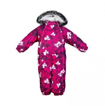 Детский зимний термо комбинезон Huppa, REGGIE 1, фуксия узор