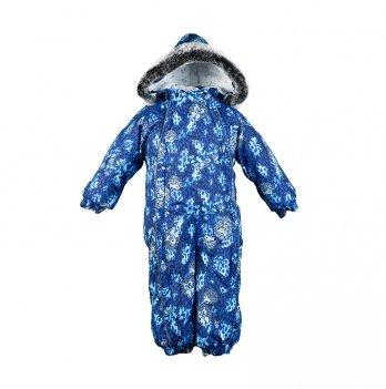 Детский зимний термо комбинезон Huppa, REGGIE 1, синий с ежиками