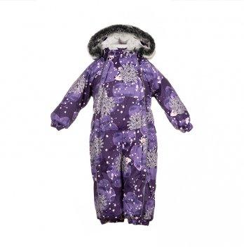 Детский зимний термо комбинезон Huppa, REGGIE 1, фиолетовый с облаками и ежиками