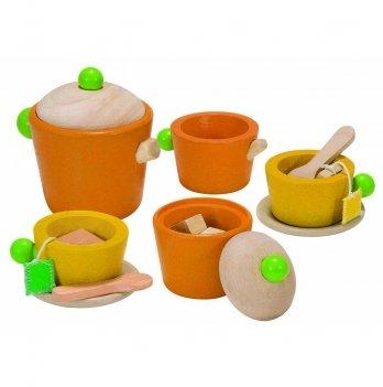 Деревянный игрушечный набор PlanToys® Чайный сервиз, 3604