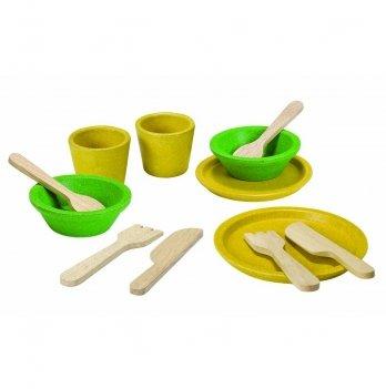 Деревянный игрушечный набор PlanToys® Столовая посуда