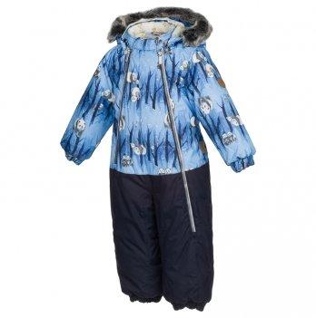 Комбинезон зимний для мальчика Huppa, DEVON 1, темно-синий узор/темно-синий