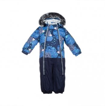 Детский зимний термо-комбинезон Huppa, DEVON 2, темно-синий
