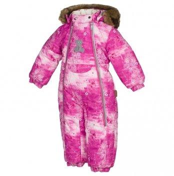 Комбинезон зимний для девочки Huppa, LOTUS, фуксия узор