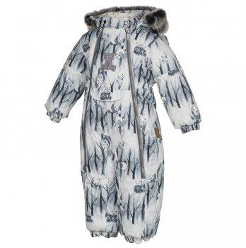 Комбинезон зимний для малышей Huppa, LOTUS, белый узор