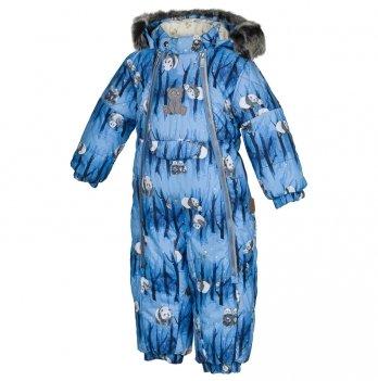 Комбинезон зимний для мальчика Huppa, LOTUS, темно-синий узор