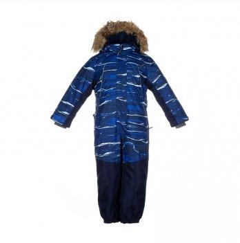 Комбинезон зимний для мальчика Huppa BRUCE, синий в полоску