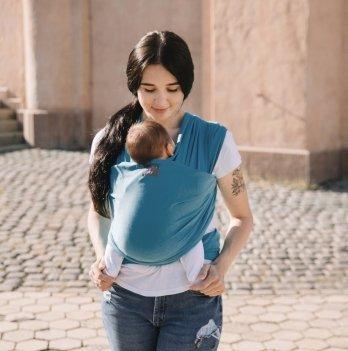 Трикотажный слинг-шарф Love & Carry LC423 Скай голубой