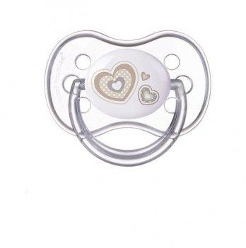 Пустышка силиконовая симметричная Canpol babies Newborn baby 18+ мес Бежевый 22/582