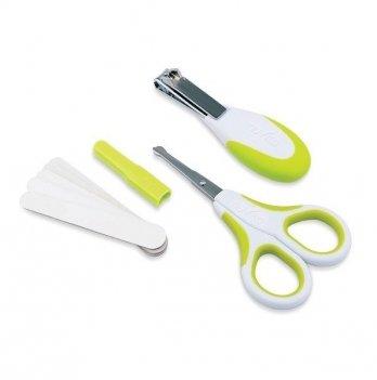 Набор по уходу за ребенком Nuvita 0м+, безопасные ножнички с акс., салатовый