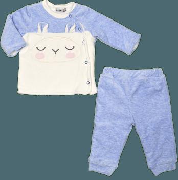 Комплект велюровый для мальчика Bonne Baby, на софте, голубой, арт. 374277