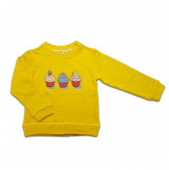 Кофта для девочки Danaya 2-6 лет Желтый 375/H18