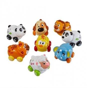 Набор игрушек Huile Toys 376 Веселый зоопарк 8 шт