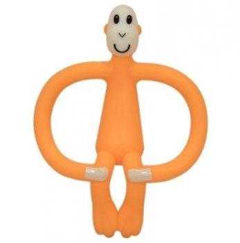 Игрушка-прорезыватель Matchstick Monkey Обезьянка, 10,5 см, оранжевая