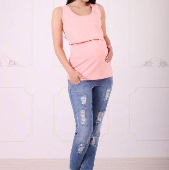 Майка для беременных и кормящих Znana Simple персик