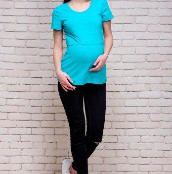 Футболка Simple для беременных и кормящих ZNANA 056-38 Мятный