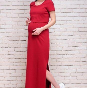 Платье-футболка Simple для беременных и кормящих ZNANA вишня