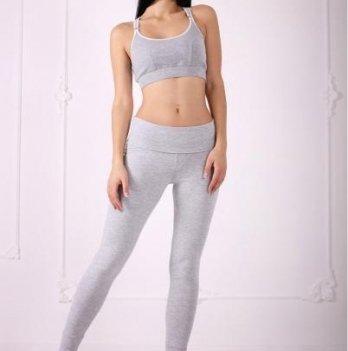 Леггинсы для беременных Znana Sport серый меланж
