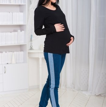 Лонгслив для беременных и кормящих Znana Simple черный