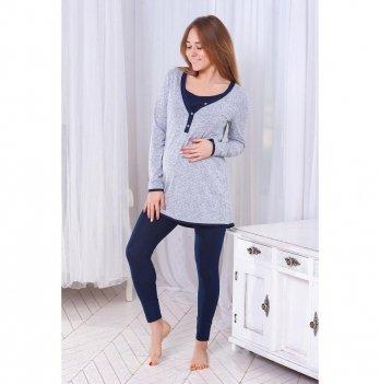 Костюм домашний для беременных и кормящих Znana Slim Серый 095-38