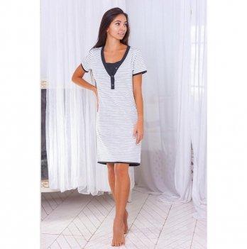 Ночная сорочка для беременных и кормящих Znana Favorite Белый 098-38
