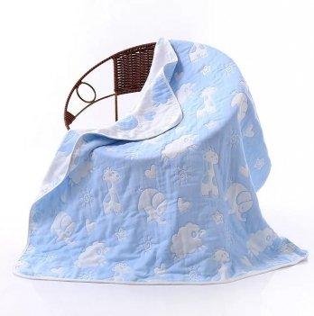 Плед муслиновый Embrase Голубые слоники