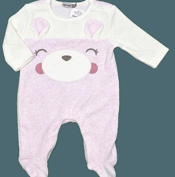 Комбинезон велюровый для девочки Bonne Baby, розовый, арт. 383136