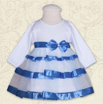 Платье Бетис Маленькая Леди интерлок Голубой 27071699 1,5 лет