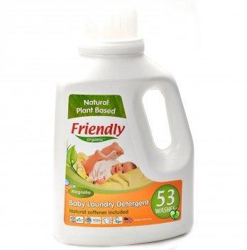 Жидкий органический стиральный порошок Friendly Organic Baby Laundry Det. Magnolia, Магнолия, 1567 мл, 53 стирки