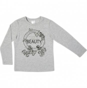 Джемпер для девочки Garden baby, серый меланж, 39051-02