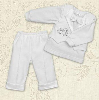 Костюм для Крещения мальчика, Бетис  Міні Бос-2, д.р., интерлок, белый