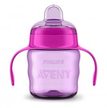 Чашка-непроливайка с мягким носиком Philips Avent SCF551/03 розовый 6+ 200 мл