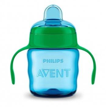 Чашка-непроливайка с мягким носиком Philips Avent SCF551/05 голубой 6+ 200 мл