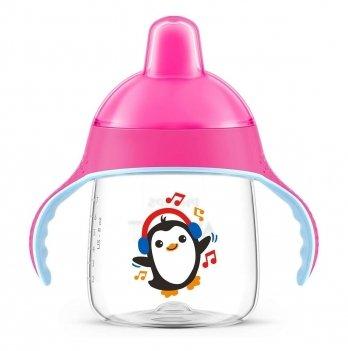 Чашка-непроливайка с твёрдым носиком Philips Avent SCF753/07 12+ розовый 260 мл
