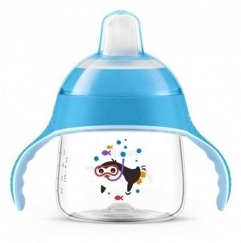 Чашка-непроливайка с мягким носиком Philips Avent SCF751/05 с рисунком голубой 6+ 200 мл