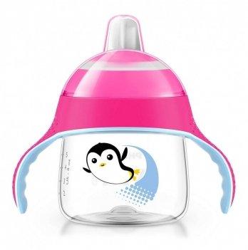 Чашка-непроливайка с мягким носиком Philips Avent SCF751/07 с рисунком розовый 6+ 200 мл