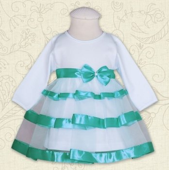 Платье Бетис Маленькая Леди интерлок Бирюзовый 27071717 1,5 лет