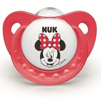 Пустышка силикон Trendline Disney Mickey NUK 3954017 6+ красный