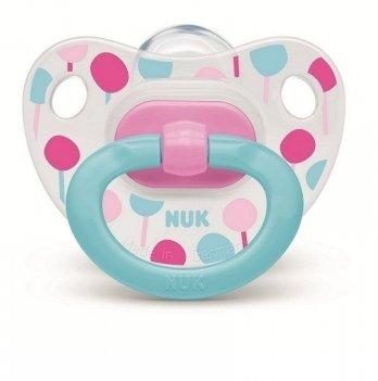 Пустышка силикон Happy Days NUK 3954026 6+ бирюзовый с розовым