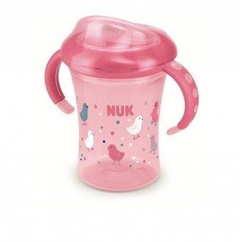 Поильник с силиконовой насадкой Starter Cup NUK 3954028 розовый 200 мл