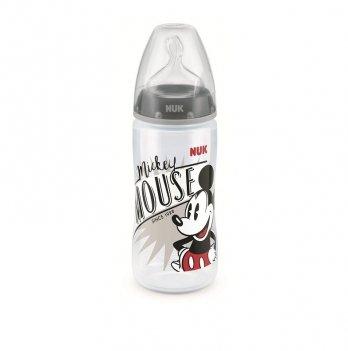 Бутылочка First Choice Plus Disney Mickey NUK 3954078 черный 300 мл