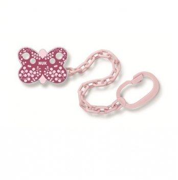 Держатель для пустышки пластик NUK 3954089 розовый
