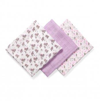 Набор бамбуковых пеленок BabyOno 397/03 фиолетовый 70х70 см 3 шт