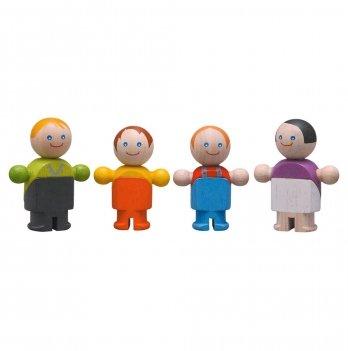 Деревянный игровой набор PlanToys® Обычная семья