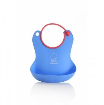 Силиконовый фартук для кормления Babyhood, голубой