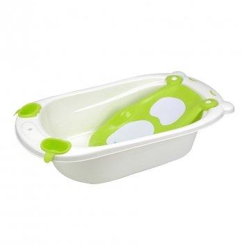 Детская ванночка Babyhood, Мишка, зеленая