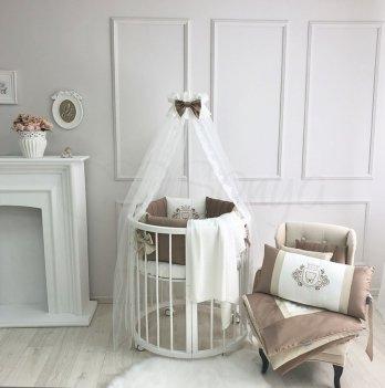 Комплект постельного белья для кроватки Маленькая Соня Royal шоколад